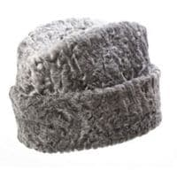 Astrakhan Hat - Grey Natural Persian Wool Winter Headwear
